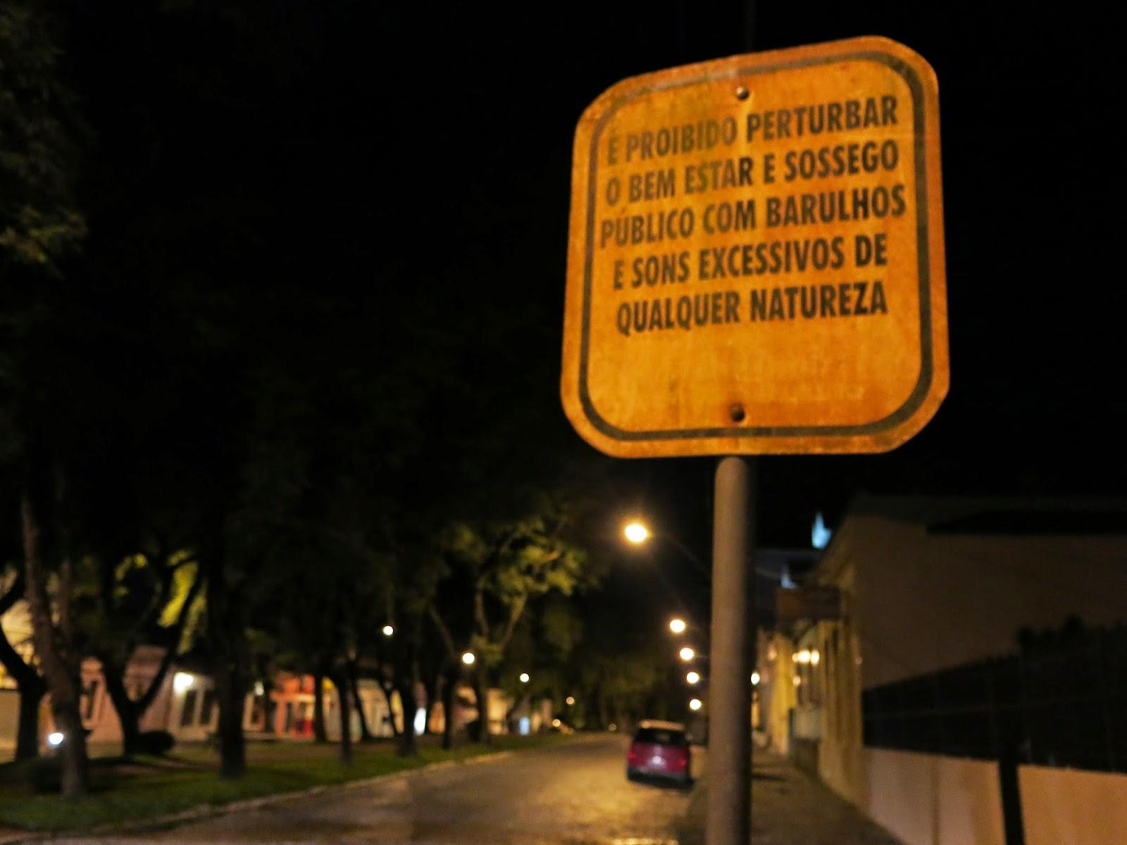Lapa, no Paraná, durante a noite