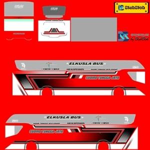 Livery Bussid STJ Red Srikandi