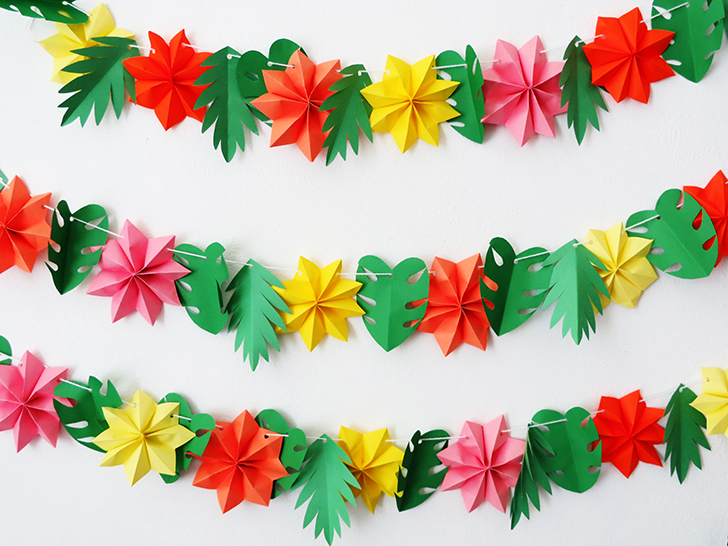 Make a fun paper garland for your summer party