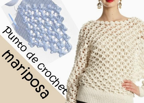 Punto Mariposa en Crochet Tutorial