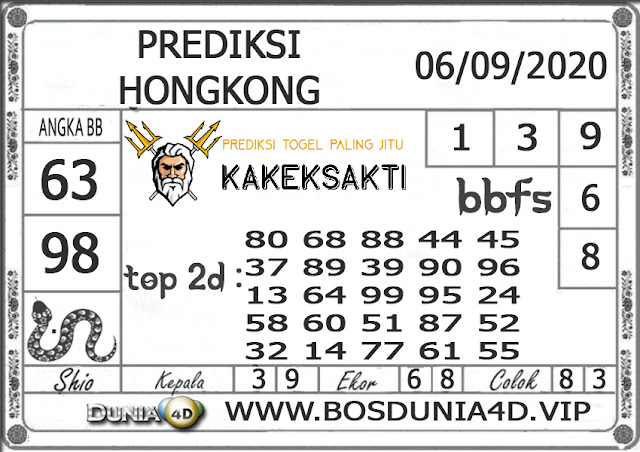 Prediksi Togel HONGKONG DUNIA4D 06 SEPTEMBER 2020