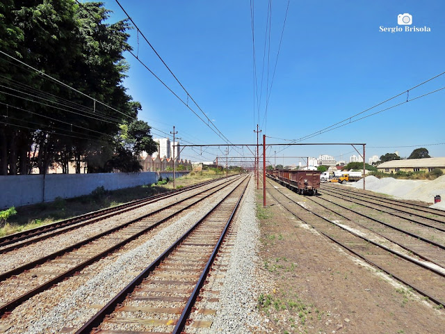 Vista de trecho dos Trilhos da CPTM na Mooca