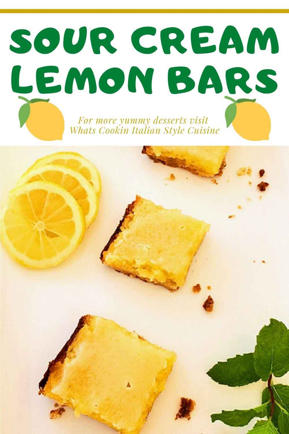this is a pin for later on how to make sour cream lemon bars