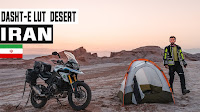 Wild Camping in Hottest Place on Earth Ep. 48 | Dasht-e Lut Iran|Motorcycle Tour Germany to Pakistan