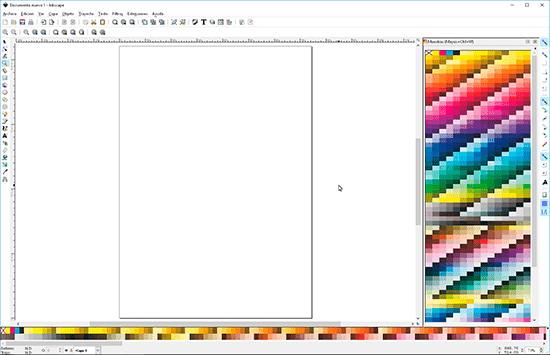 Inkscape con paleta Pantone