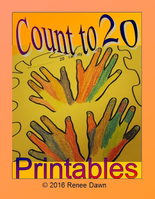 Count to 20 Lesson and Printables for Kindergarten