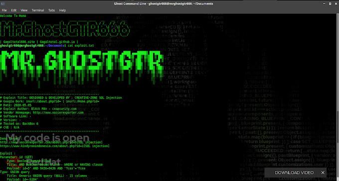 Exploit DESIGNED & DEVELOPED BY : CREATIVE-ZONE SQL Injection Tested BackBox GNU/Linux