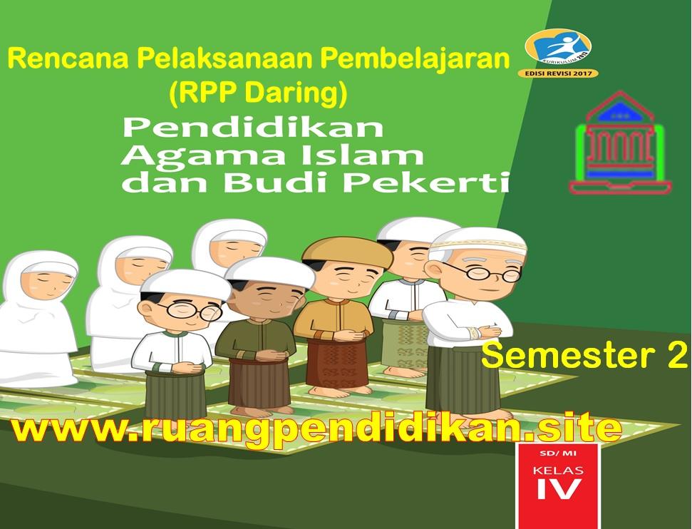 RPP Daring PAI Semester 2 Kelas 4 SD/MI