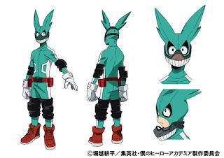 Projekt postaci Izuku Midoriya - jako superbohater