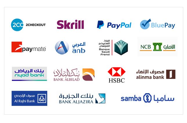 طرق الدفع في المتجر الإلكتروني