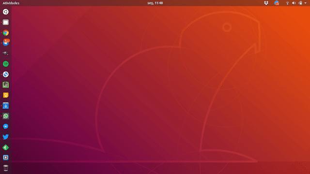 Ubuntu Dock com Lixeira