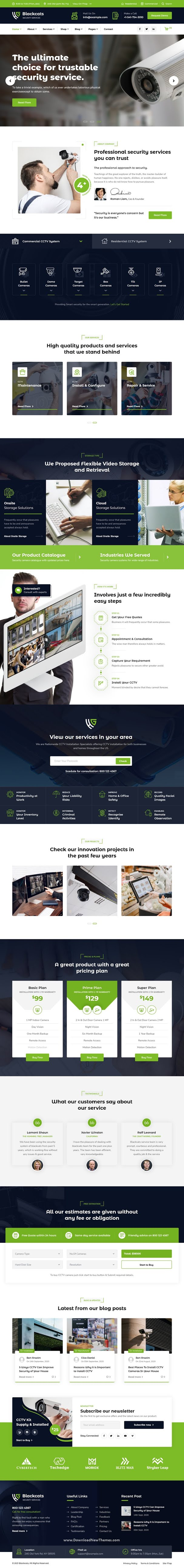 CCTV and Security Bootstrap Template