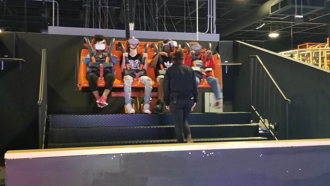 Virtual Reality ride at allegiant nonstop