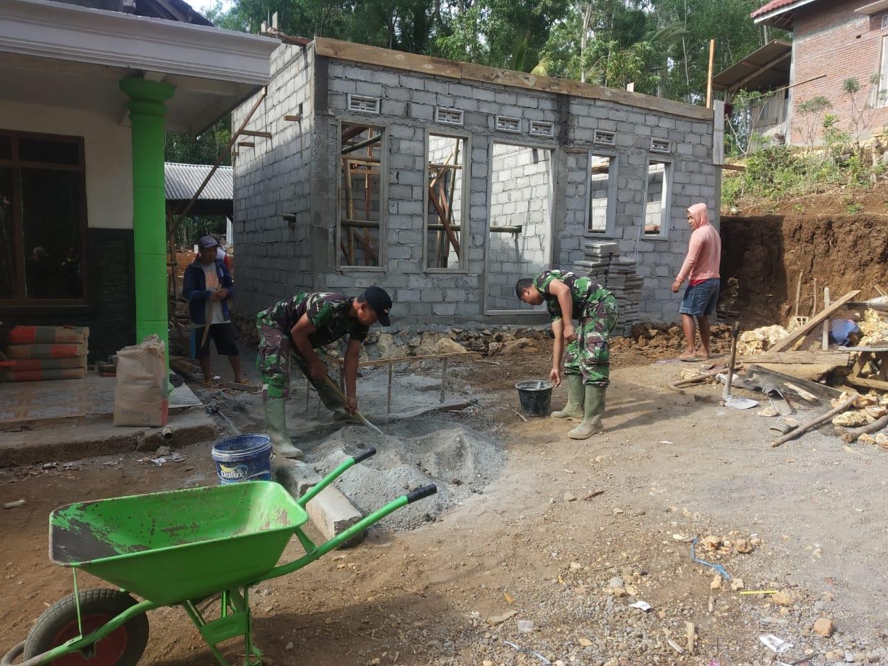 RTLH, Satgas TMMD Reg Ke 106 Kodim 0818 Malang-Batu Terus Dikebut