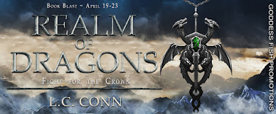 Goddess Fish tour banner for Realm of Dragons