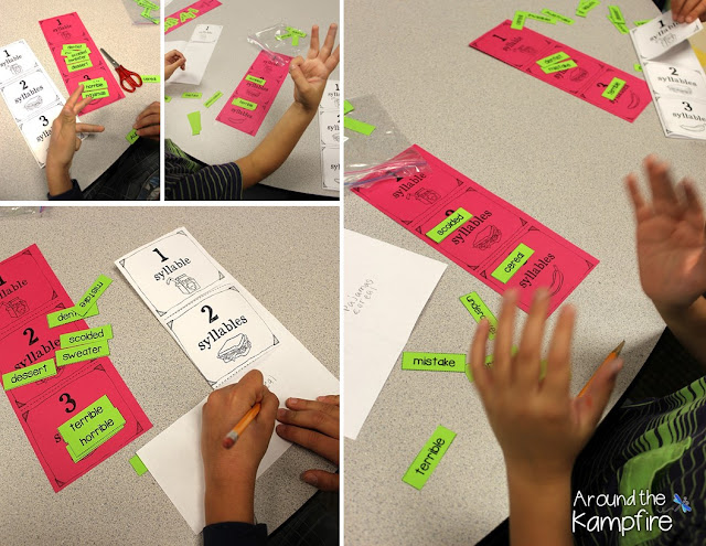 Turn flapbooks into sorting mats for small groups