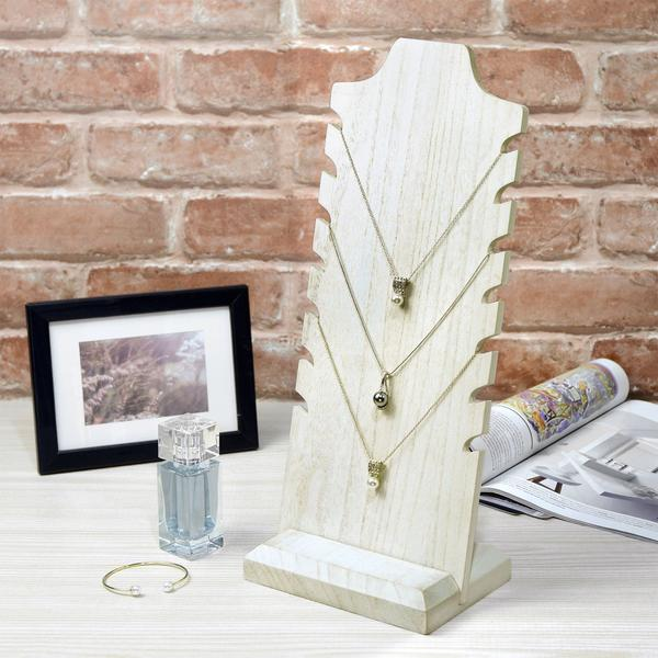 Use the wooden freestanding necklace display stand for your minimalist display.
