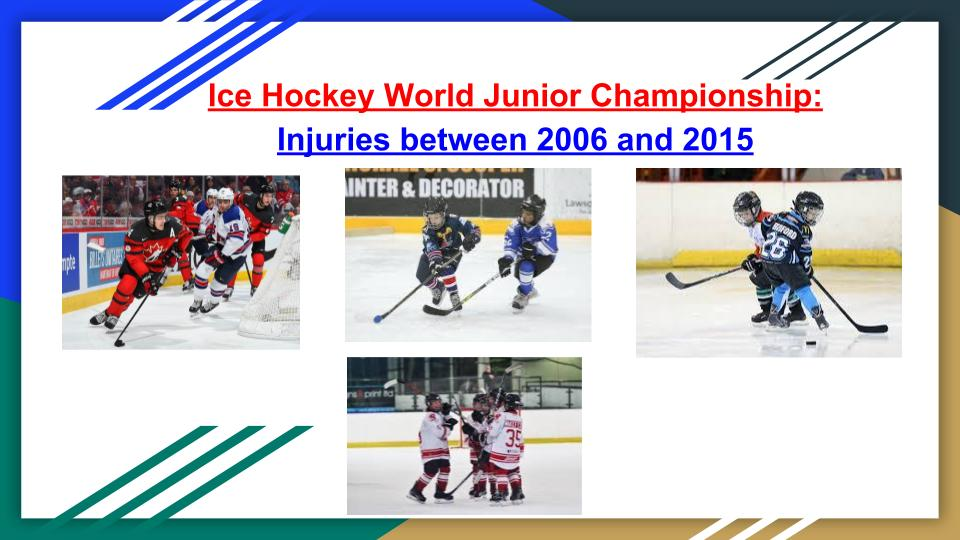 Ice Hockey World Junior Championship Injuries Between 2006 And 2015