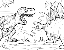 Most Popular Battle Tyrannosaurus Coloring Pages