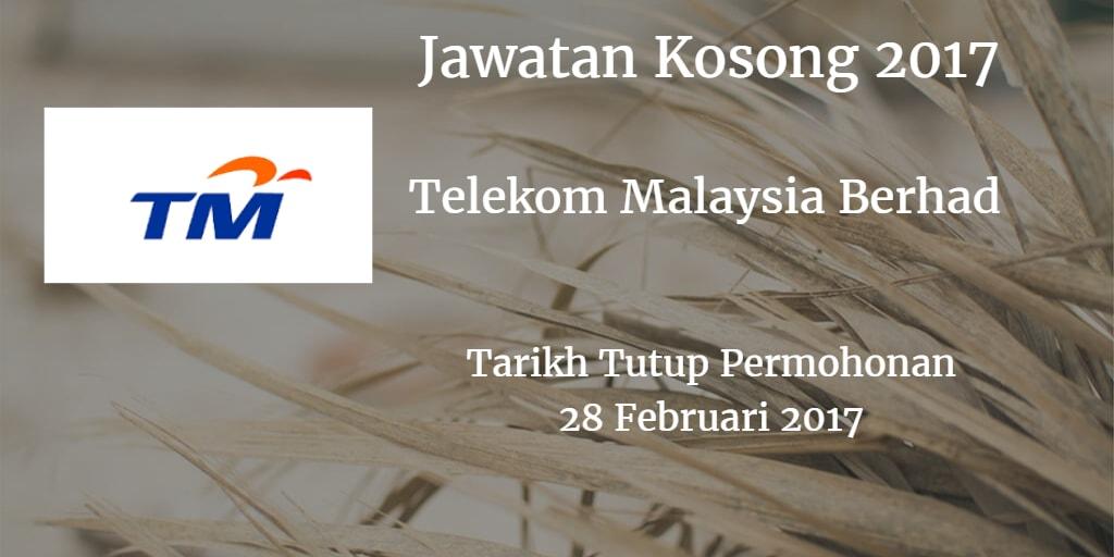 Jawatan Kosong TM 28 Februari 2017