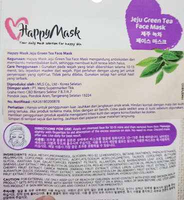 Happy Mask Anti Oxidant Jeju Green Tea