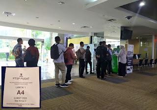 Antri Nomor Urut Layanan OSS PTSP Pusat BKPM Jakarta