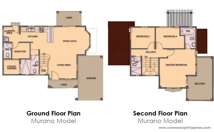 Floor Plan of Ponticelli - Murano | House and Lot for Sale Daang Hari Bacoor Cavite