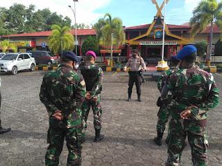 OPS mantap Praja,Polres Tanjung Pinang laksanakan Patroli Skala besar gabungan  TNI-POLRI