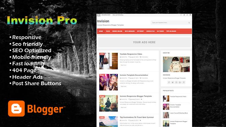 Invision  Pro Responsive Blogger Template