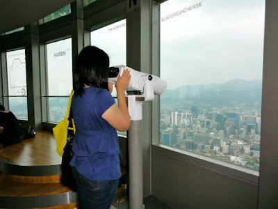 Binoculars at Namsan Seoul Tower Observatory