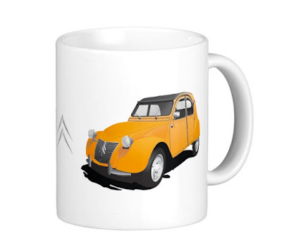 Citroën 2CV coffee mug, chevrons