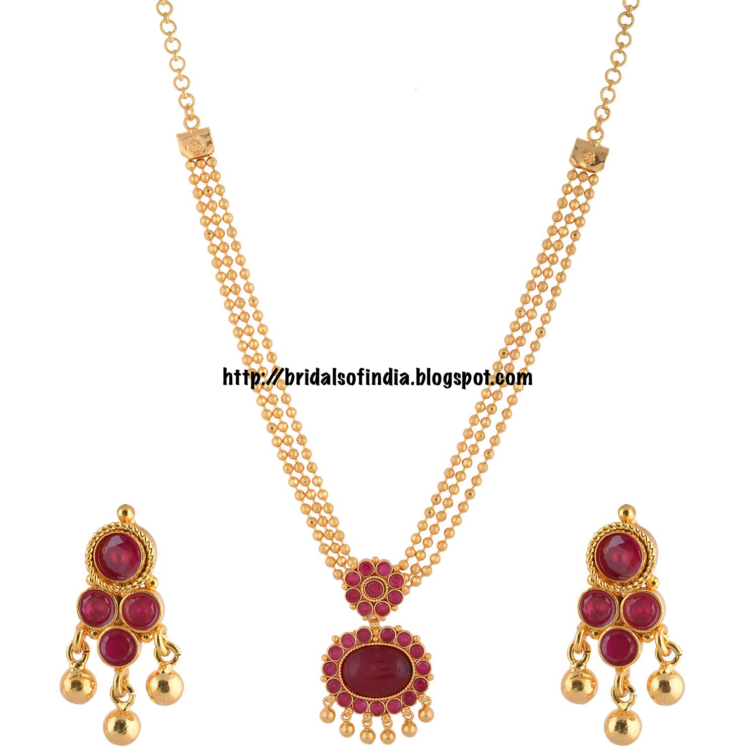 1 Gram Jewellery: Fashion World: Ganapathy Gems South Indian Traditional