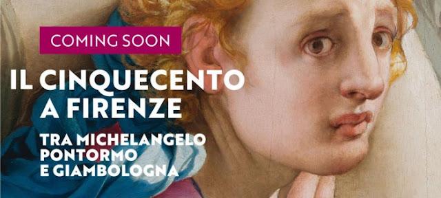 Dal 21 settembre, a Palazzo Strozzi, Il Cinquecento a Firenze – Tra Michelangelo, Pontormo e Giambologna - Locandina