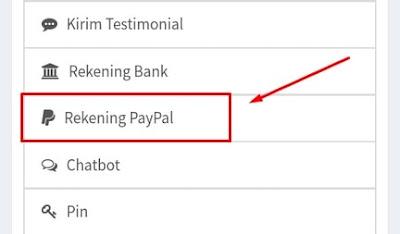 Informasi Rekening Paypal