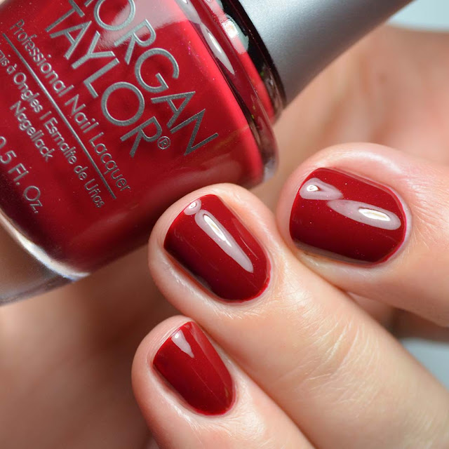 red jelly shimmer nail polish