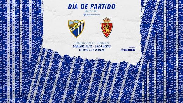 Málaga - Zaragoza, alineaciones posibles