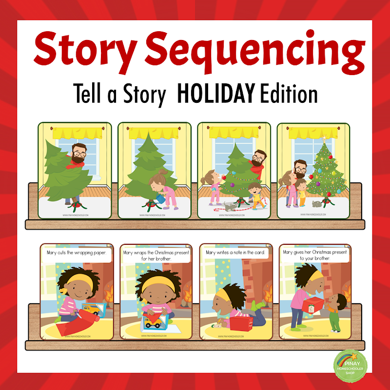 Holiday Themed Picture Sequencing, Tell a Story