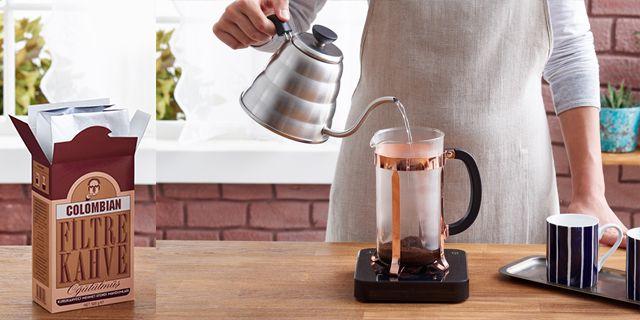 kurukahveci mehmet efendi colombian filtre kahve hazırlama, yapımı - KahveKafeNet