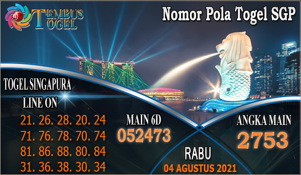 Nomor Pola Togel SGP - Rabu 04 Agustus 2021