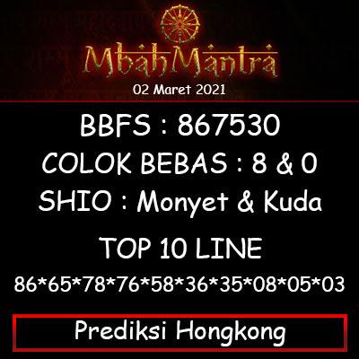 Prediksi Angka Hongkong 02 Maret 2021