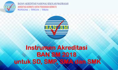 Instrumen Akreditasi BAN SM 2018 untuk SD, SMP, SMA dan SMK
