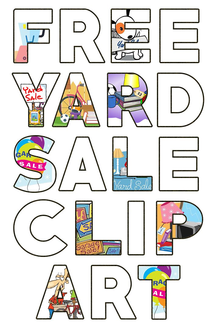 Free original high resolution Garage Sale images and Yard Sale clipart for signs and flyers that will attract more customers. #garagesaletips