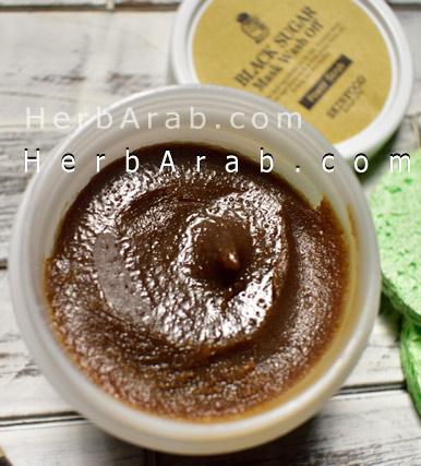 فوائد ماسك السكر الاسود الكوري اي هيرب