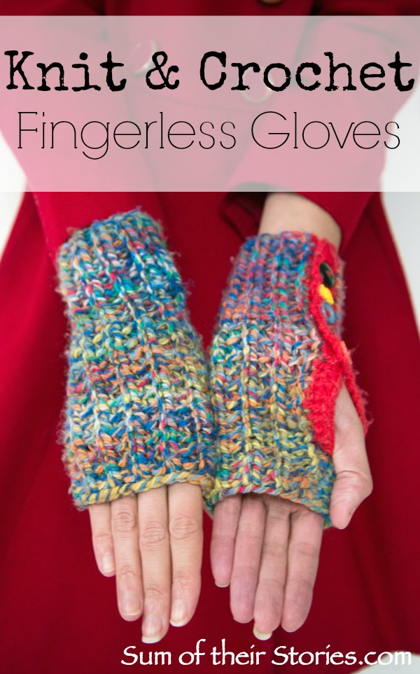 Knit & Crochet Fingerless Gloves