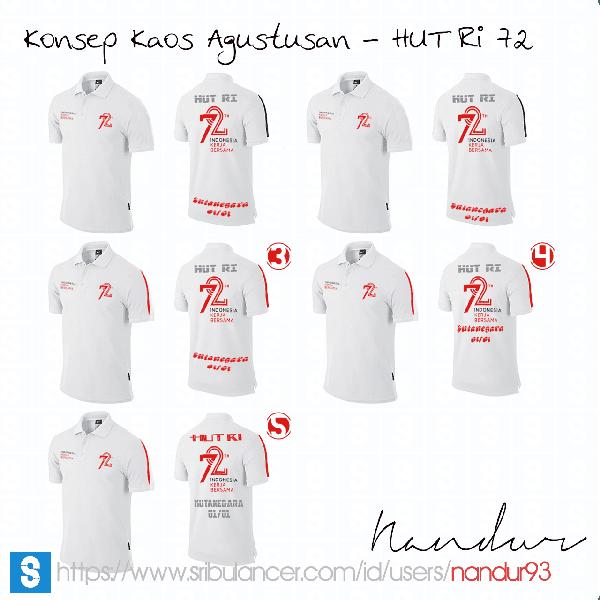 Desain Kaos Agustusan - HUT RI 72 Sumur Batu Kutanegara - Nandur93