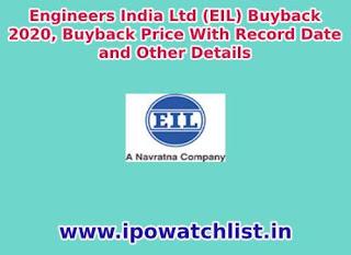 engineers india buyback 2020