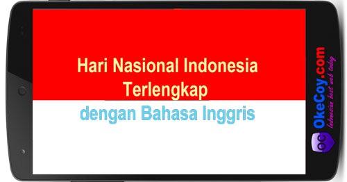 Bahasa Inggris Hari Santri Nasional Hari Nasional Indonesia Penting Lengkap Bahasa Inggris Okecoy Com Hari Internasional Nasional