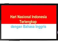 Hari Nasional Indonesia Lengkap dengan Bahasa Inggris