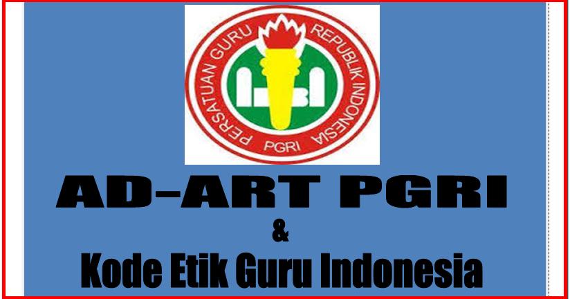 Contoh Ad Art Pgri Serta Kode Etik Guru Indonesia Sd