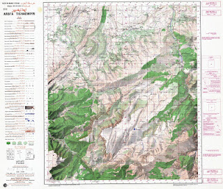 ARBA TIGHADWIN Morocco 50000 (50k) Topographic map free download